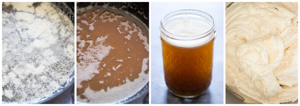 Brown Butter Frosting recipe image collage thegoldlininggirl.com