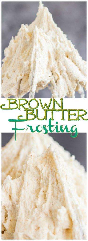 Brown Butter Frosting recipe image thegoldlininggirl.com pin 1