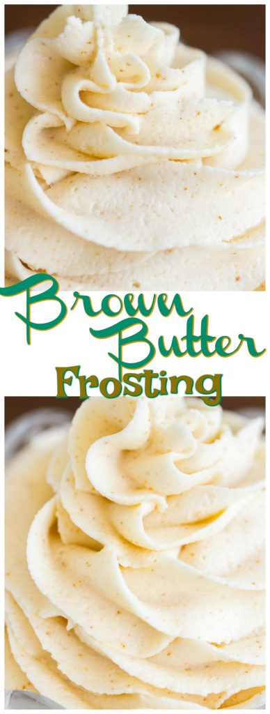 Brown Butter Frosting recipe image thegoldlininggirl.com pin 3