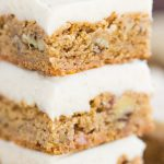 Butterscotch Blondies with Brown Butter Frosting recipe image thegoldlininggirl.com 9