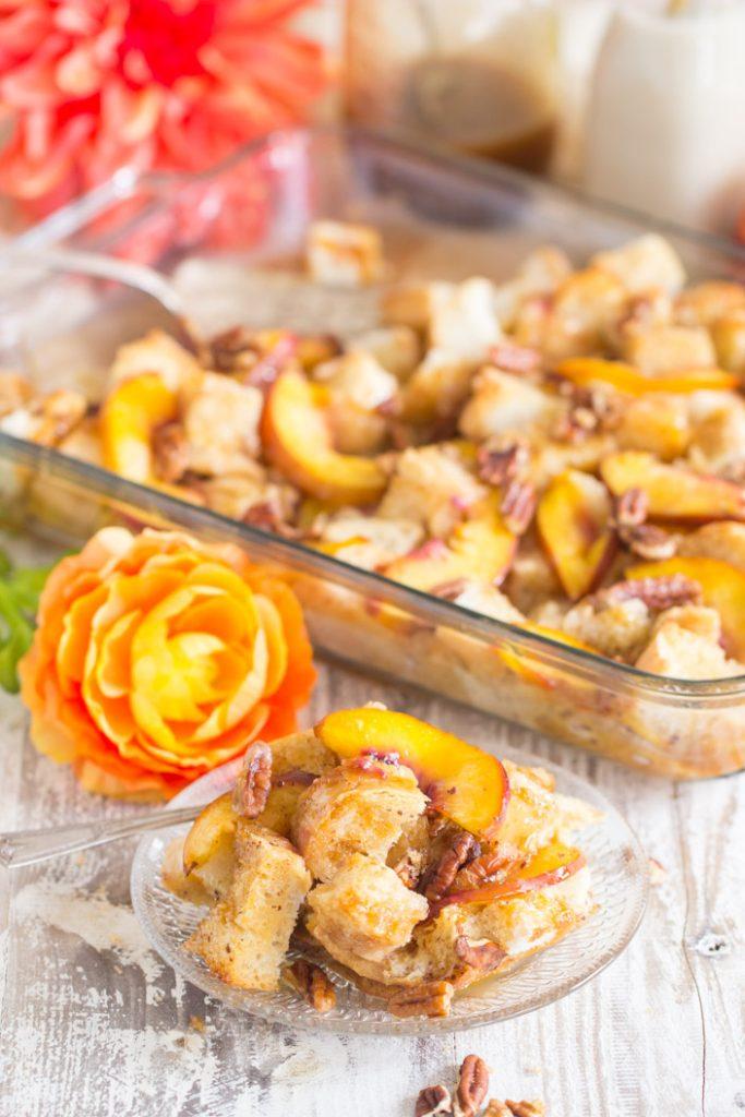 Caramel Pecan French Toast Casserole recipe image thegoldlininggirl.com 22