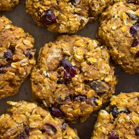 Cranberry Pumpkin Breakfast Cookies