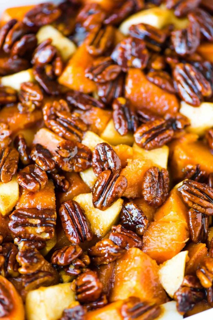 Honey-Glazed-Sweet-Potatoes-with-Whiskey-Pecans