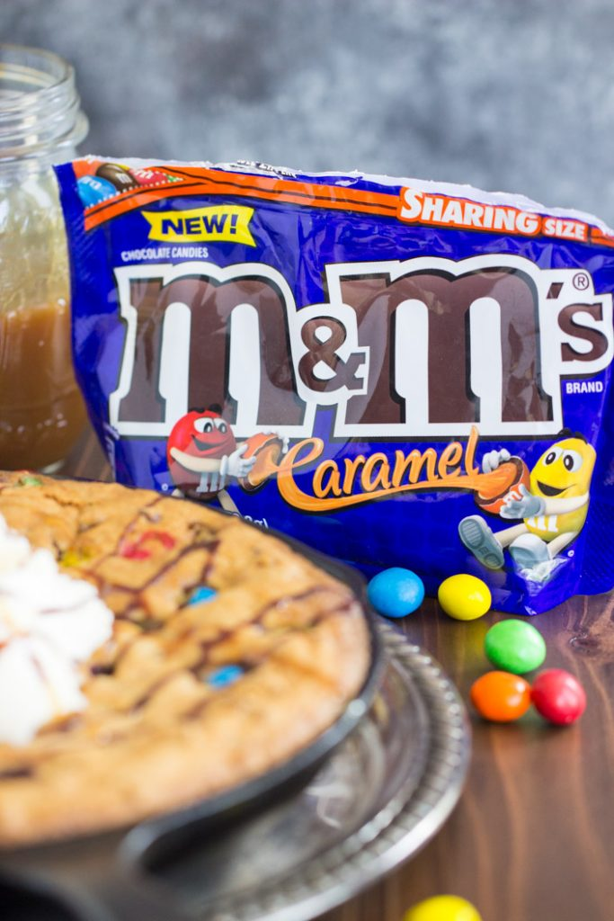 M&Ms Chocolate Chip Skillet Cookie Recipe image thegoldlininggirl.com 6