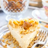 No Bake Peanut Butter Pie Recipe with Pretzel Crust