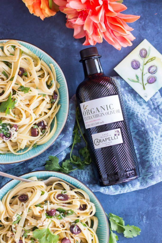 Pasta Aglio e Olio recipe image thegoldlininggirl.com 20