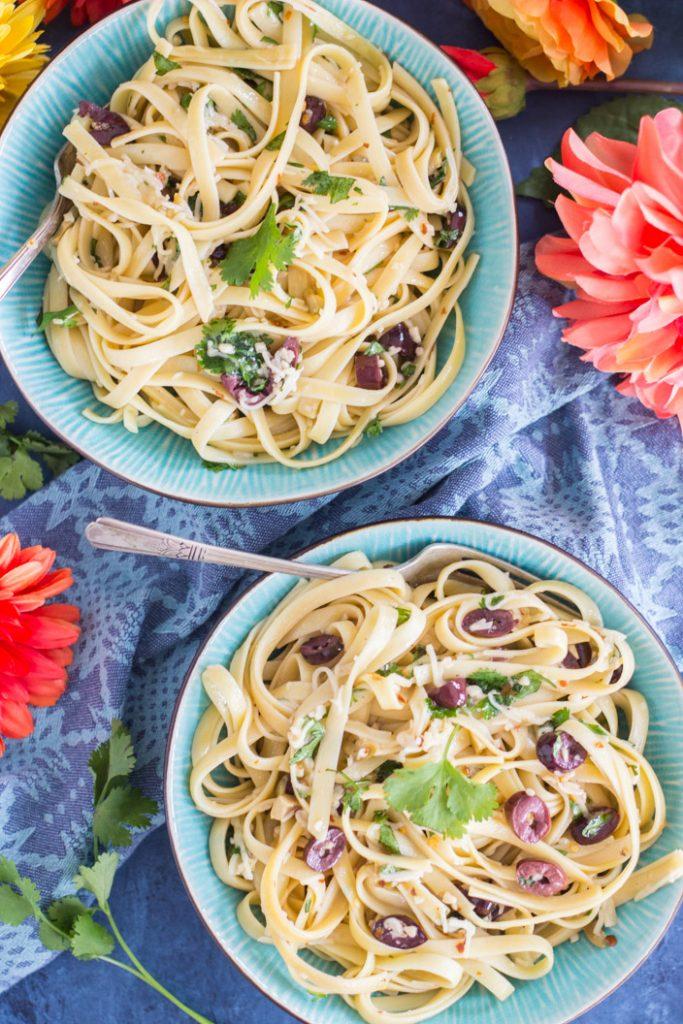 Pasta Aglio e Olio recipe image thegoldlininggirl.com 22