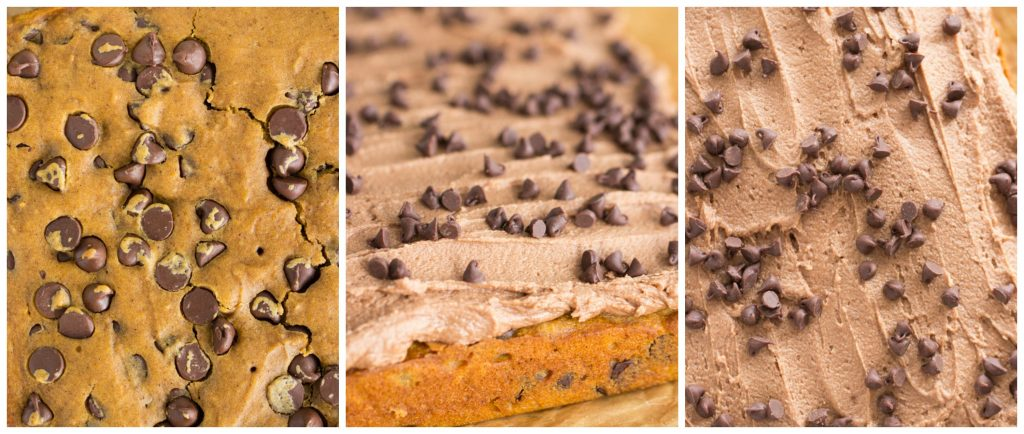 Pumpkin Chocolate Chip Bars recipe image thegoldlininggirl.com collage