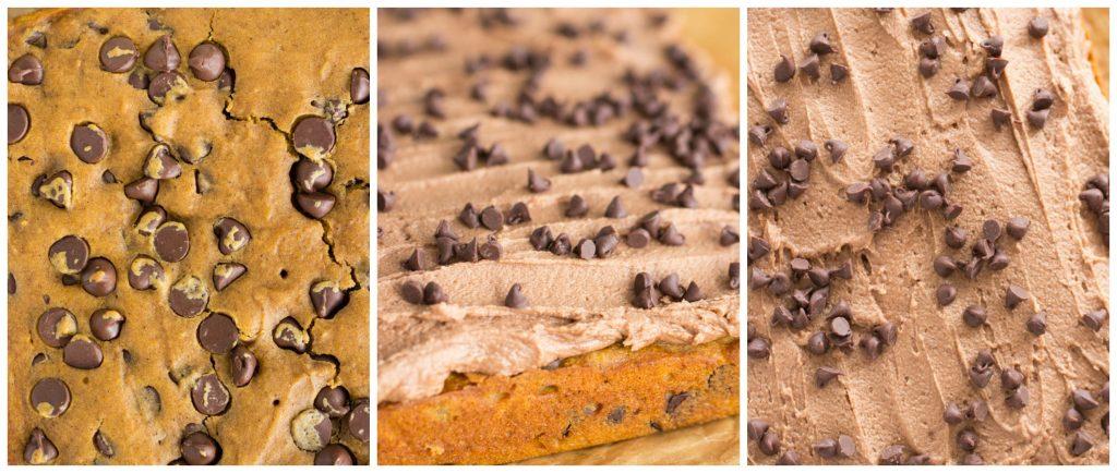 Pumpkin Chocolate Chip Bars recipe image thegoldlininggirl.com collage