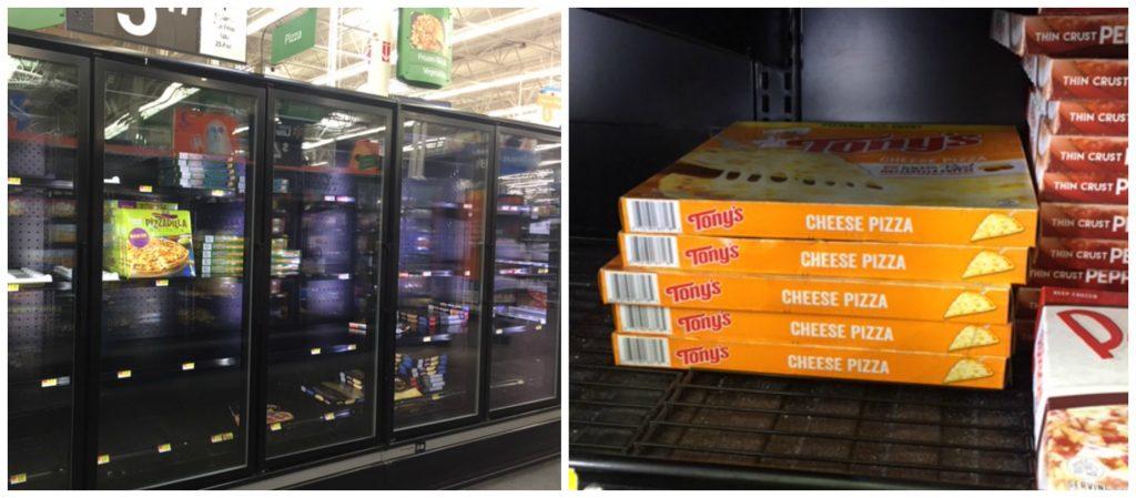 Tony's Pizza Walmart collage