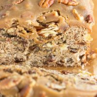 Apple Raisin Bread with Pecan Praline Topping