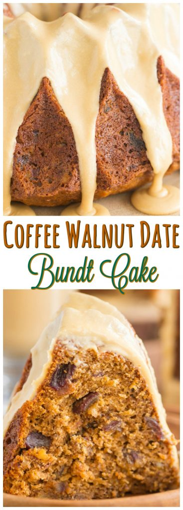 Coffee Walnut Date Cake recipe image thegoldlininggirl.com pin 2