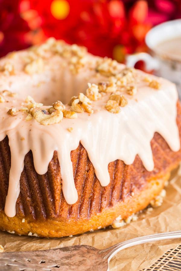 Fireball Cake With Fireball Glaze The Gold Lining Girl