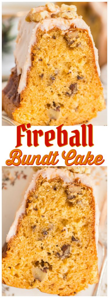 Fireball Cake recipe image thegoldlininggirl.com pin 1