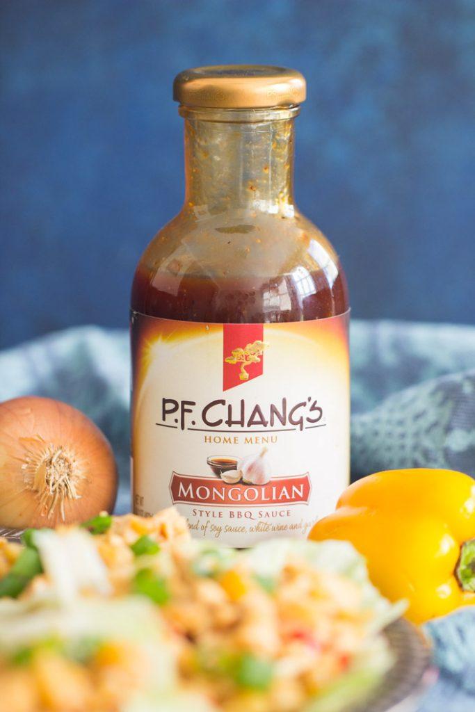 Mongolian Chicken Lettuce Wraps recipe image thegoldlininggirl.com 8