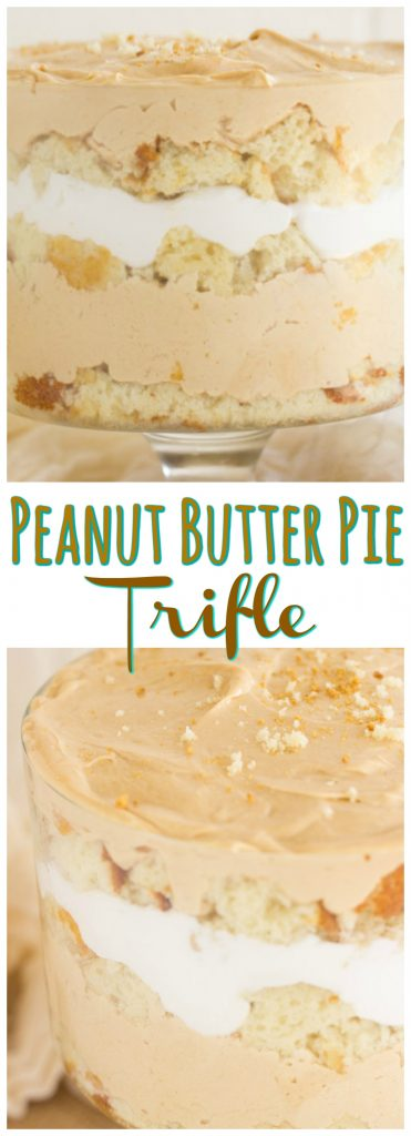 No Bake Peanut Butter Pie Trifle Recipe image thegoldlininggirl.com pin