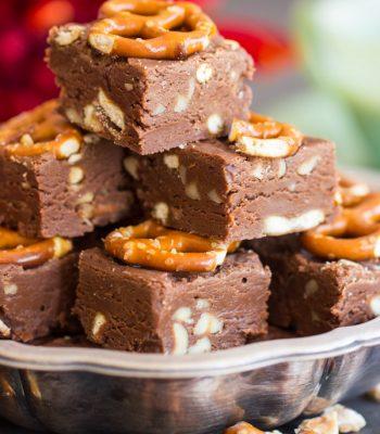 Nutella Fudge recipe image thegoldlininggirl.com 600x900