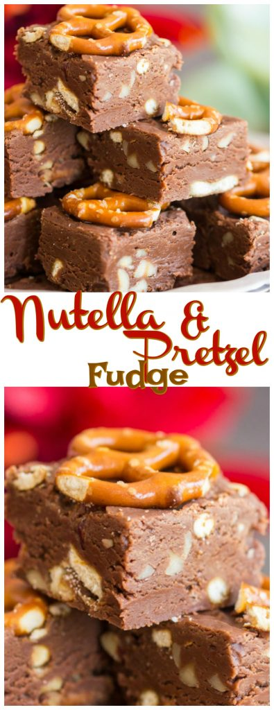 Nutella fudge recipe image thegoldlininggirl.com pin 1