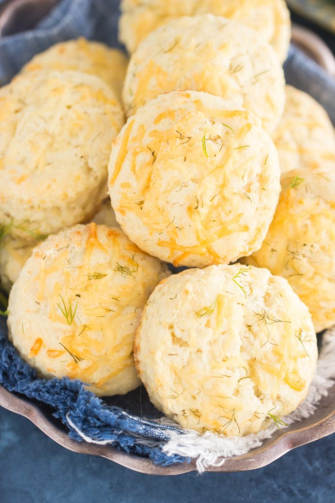 Parmesan Dill Biscuits recipe image thegoldlininggirl.com 1