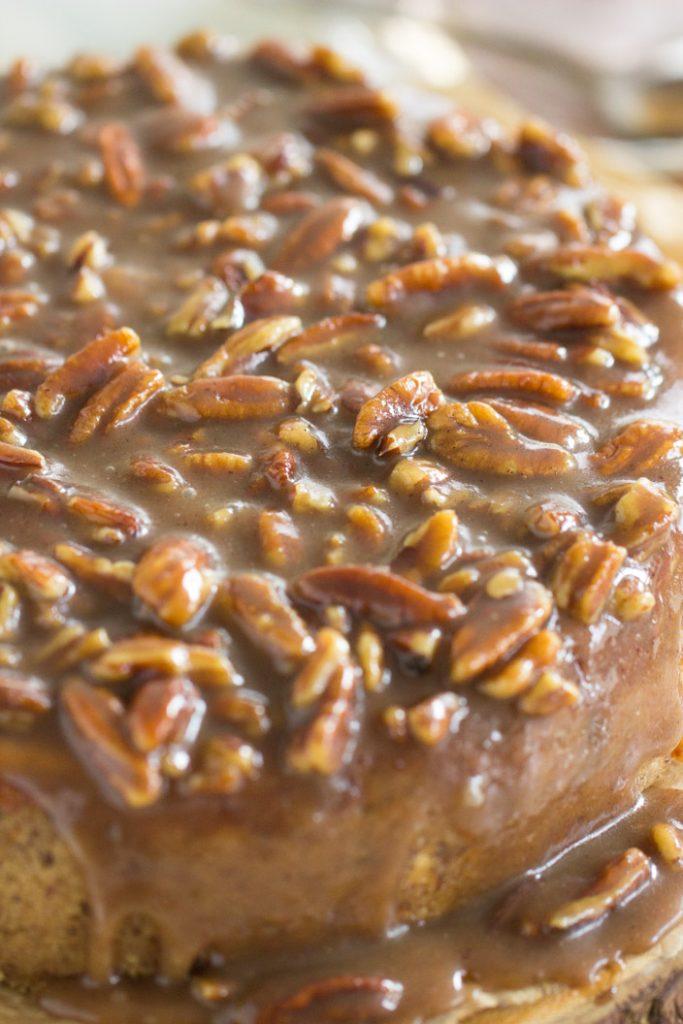 Pecan Pie Cheesecake recipe image thegoldlininggirl.com 5