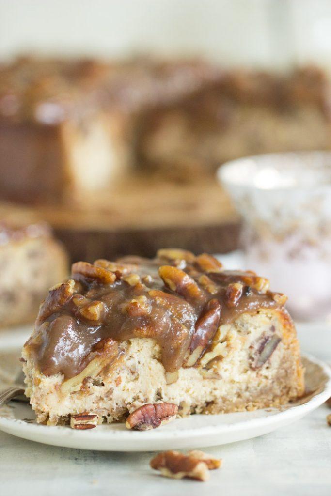 Pecan Pie Cheesecake recipe image thegoldlininggirl.com 7