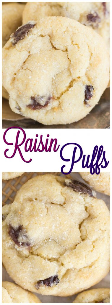 Raisin Puffs recipe image thegoldlininggirl.com pin 2
