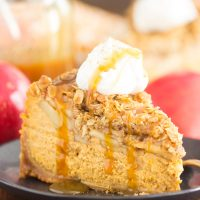 Apple Crisp Pumpkin Cheesecake