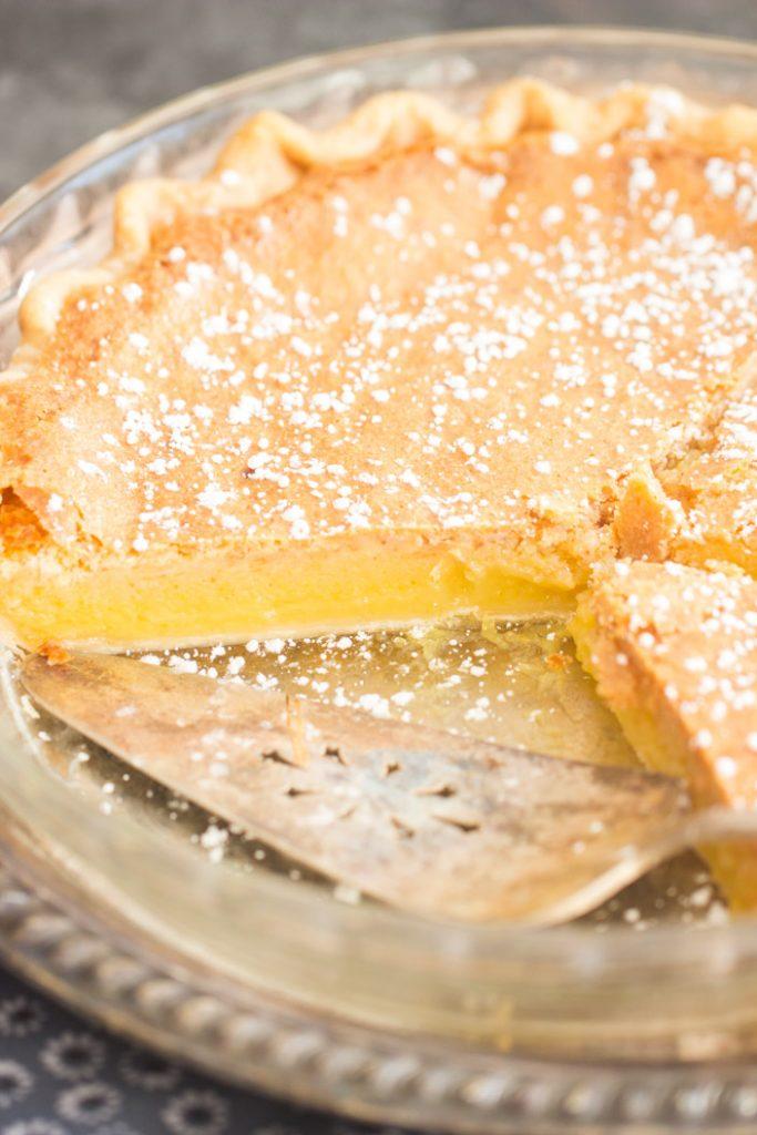 Classic Chess Pie recipe image thegoldlininggirl.com 5