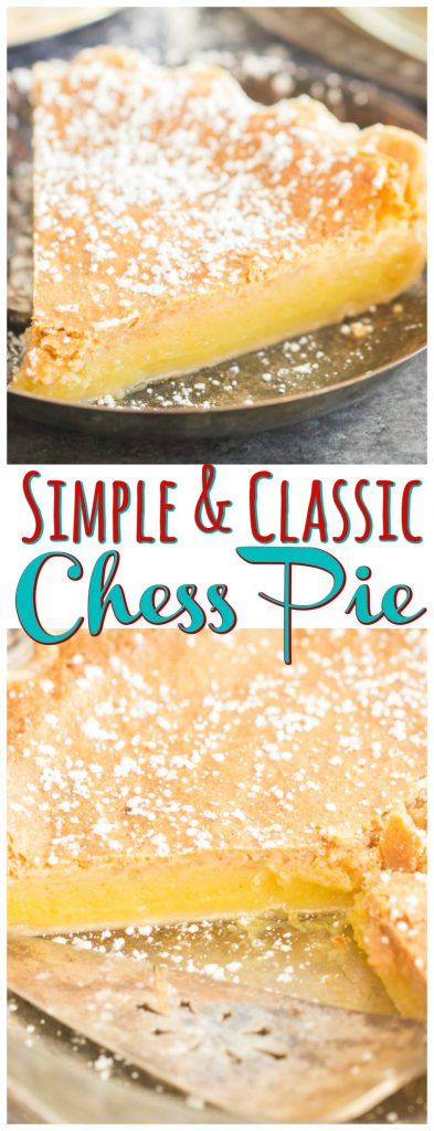 Chess Pie recipe thegoldlininggirl.com
