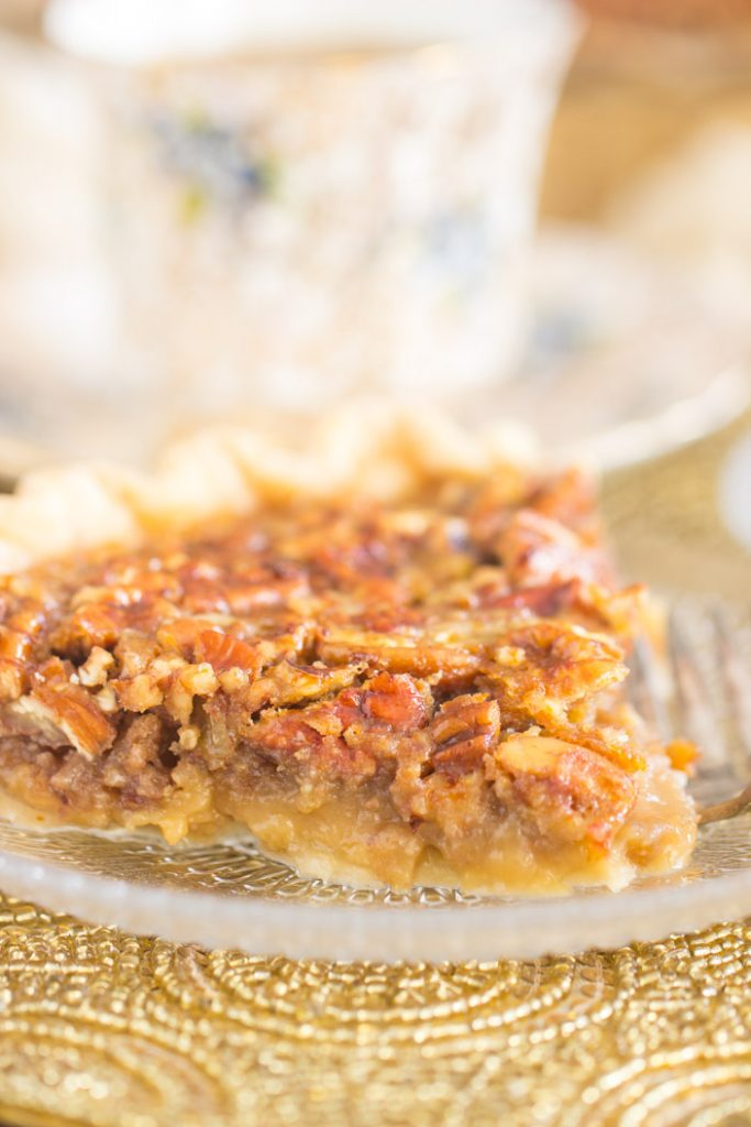 Honey Pecan Pie recipe image thegoldlininggirl.com 13