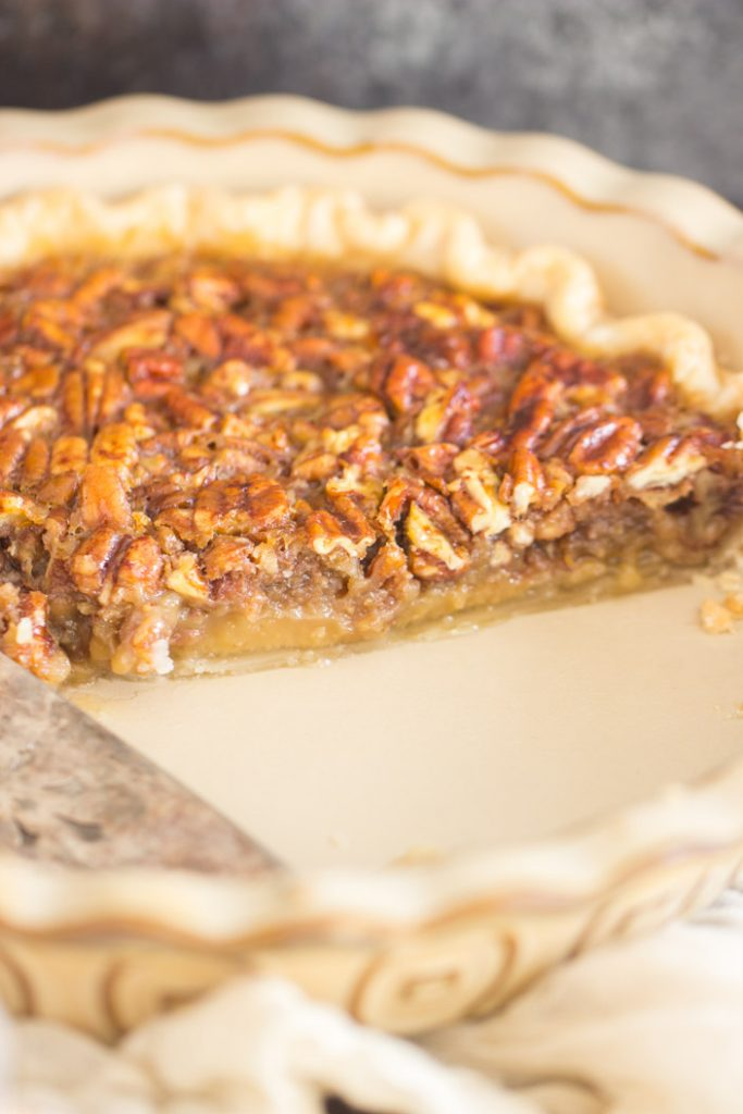 Honey Pecan Pie recipe image thegoldlininggirl.com 6