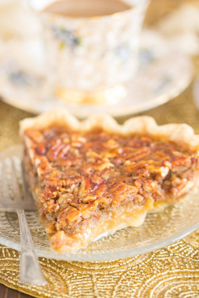 Honey Pecan Pie recipe image thegoldlininggirl.com 9