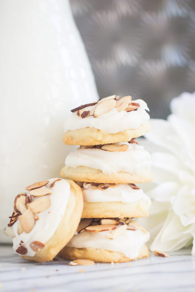 Iced Almond Cookies Almond Sugar Cookies recipe image thegoldlininggirl.com 11