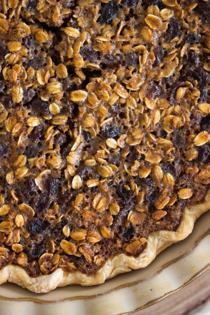 Oatmeal Rum Raisin Pie recipe image thegoldlininggirl.com 3