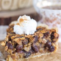 Oatmeal Rum Raisin Pie