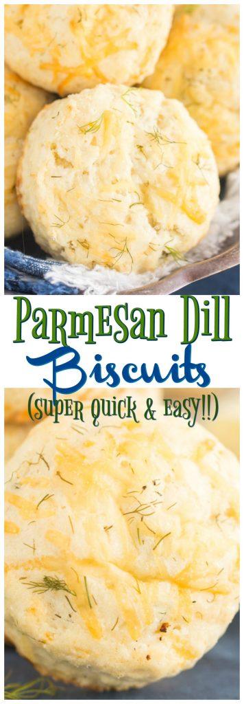 Parmesan Dill Biscuits recipe image thegoldlininggirl.com pin 1