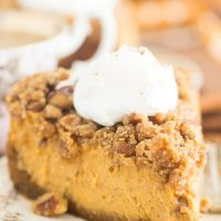 Streusel-Topped Pumpkin Cheesecake