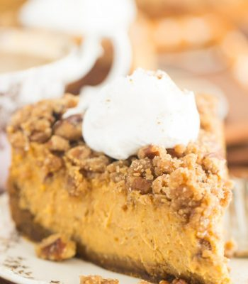 Streusel-Topped Pumpkin Cheesecake recipe image thegoldlininggirl.com 13