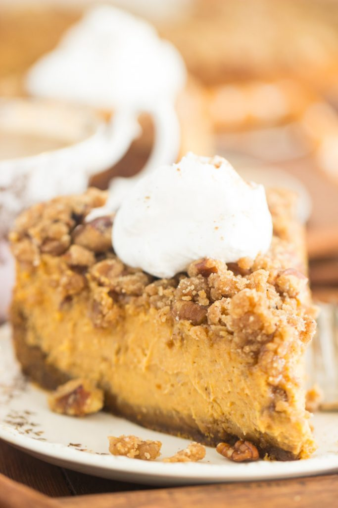 Streusel-Topped Pumpkin Cheesecake recipe image thegoldlininggirl.com 14