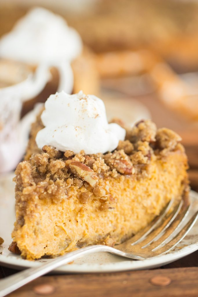 Streusel-Topped Pumpkin Cheesecake recipe image thegoldlininggirl.com 18