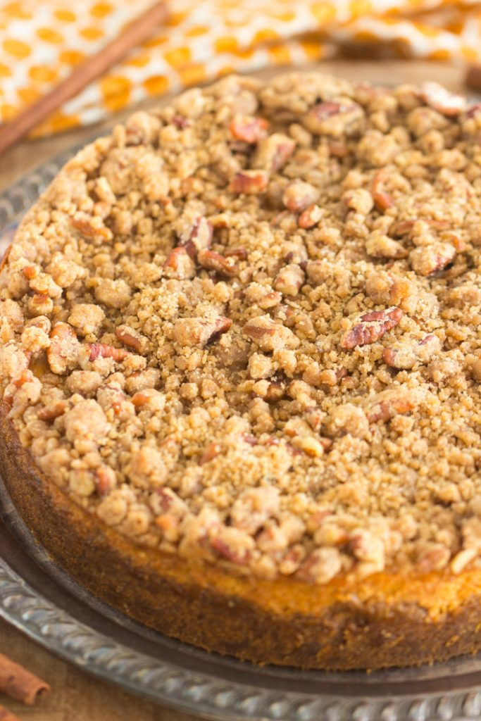 Streusel-Topped Pumpkin Cheesecake recipe image thegoldlininggirl.com 8