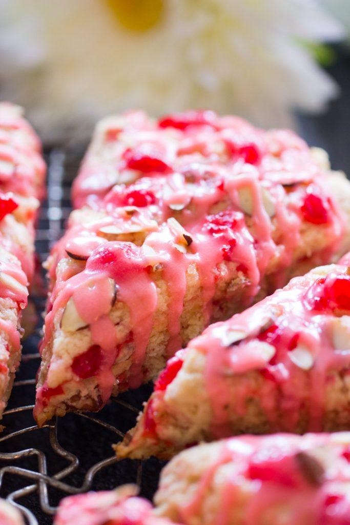 Cherry Almond Scones recipe image thegoldlininggirl.com 7