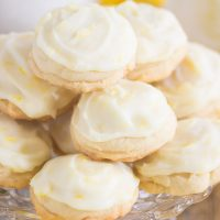 Iced Lemon Amish Sugar Cookies