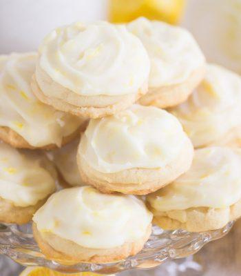 Iced Lemon Amish Sugar Cookies recipe image thegoldlininggirl.com 600x900 1