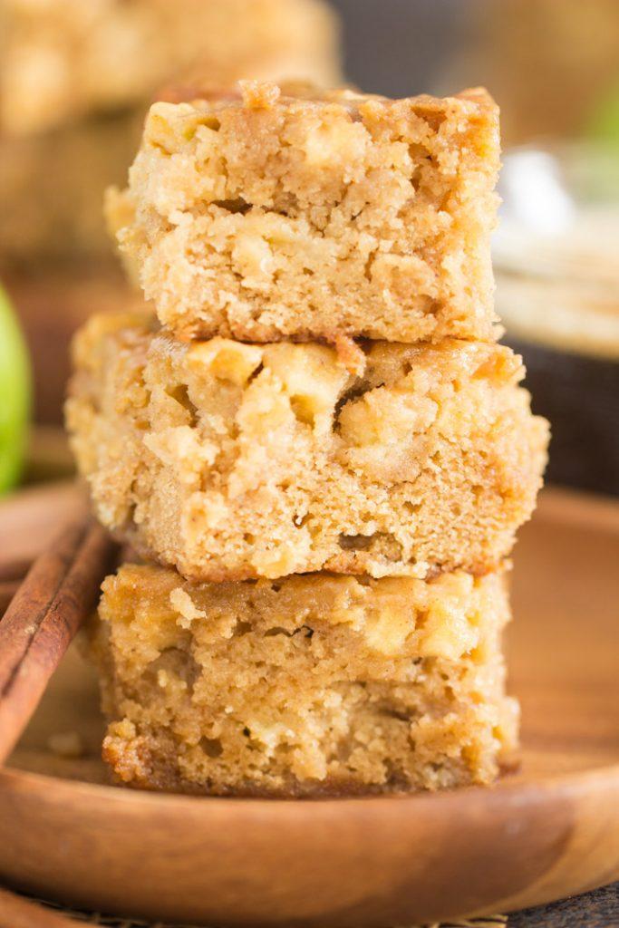 Maple-Glazed Apple Bars recipe image thegoldlininggirl.com 9