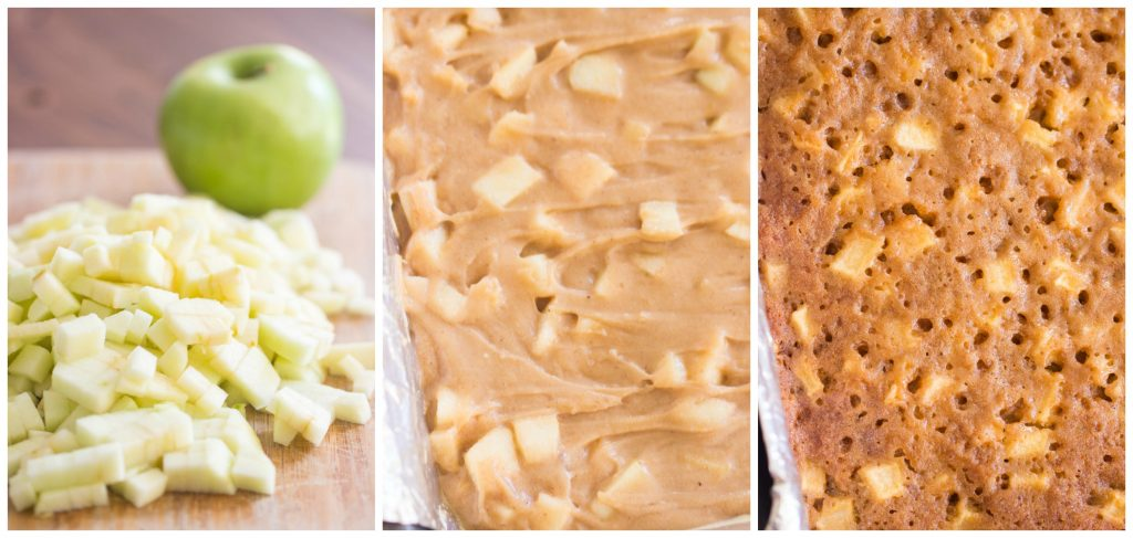 Maple-Glazed Apple Bars recipe image thegoldlininggirl.com collage