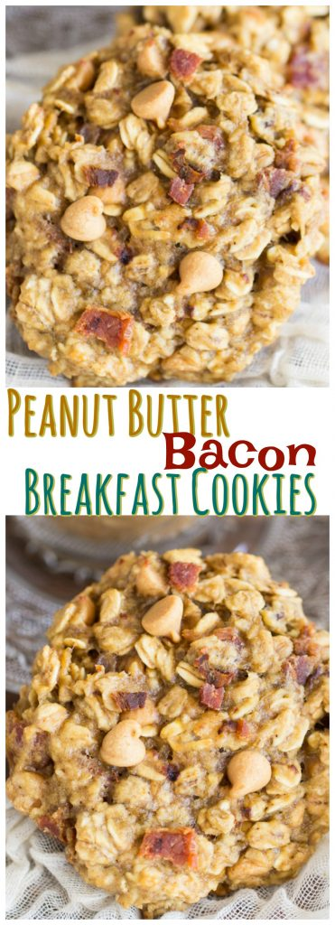 Peanut Butter Bacon Breakfast Cookies recipe image thegoldlininggirl.com pin 2
