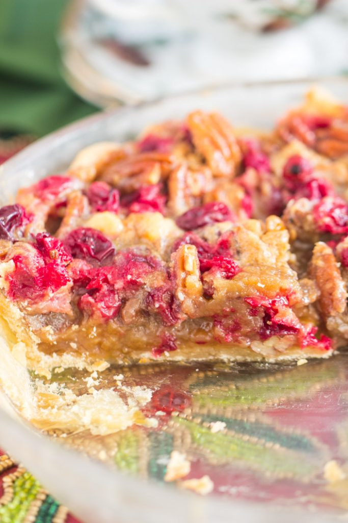 White Chocolate Cranberry Pecan Pie recipe image thegoldlininggirl.com 13