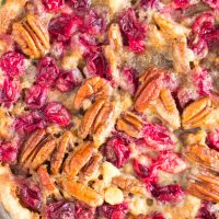 White Chocolate Cranberry Pecan Pie