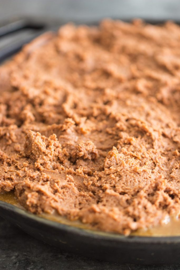 Chocolate Peanut Butter Banana Upside Down Cake recipe image thegoldlininggirl.com 4